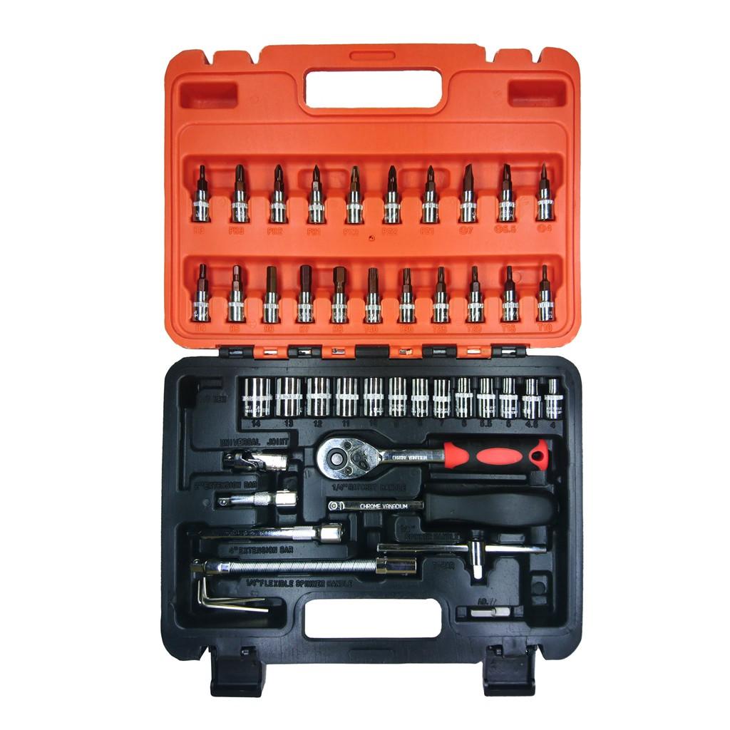 Bộ dụng cụ sửa chữa ô tô xe máy 46 món cao cấp - Bộ dụng cụ sửa chữa đa năng Sat