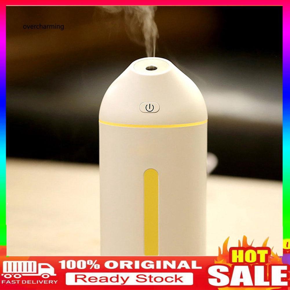 ❉OVER❉320ml Silent Mini Home Office Desktop Car USB Air Humidifier Mist Maker Diffuser
