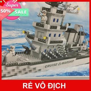 Sale 11.11 Bộ Lego Xếp Hình Thuyền chiến đấu huyền thoại của Cảnh Sát Biển. Lego đồ chơi xếp hình cho bé