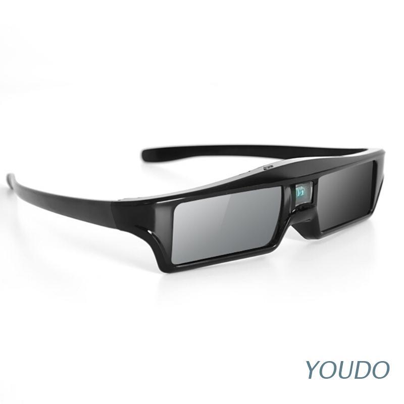 YOUDO 3D Glasses Active Shutter Rechargeable Eyewear for DLP-Link Optama Projectors