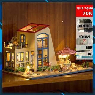 Mô hình nhà búp bê gỗ DIY Nhà búp bê – The Big Blue Toy World