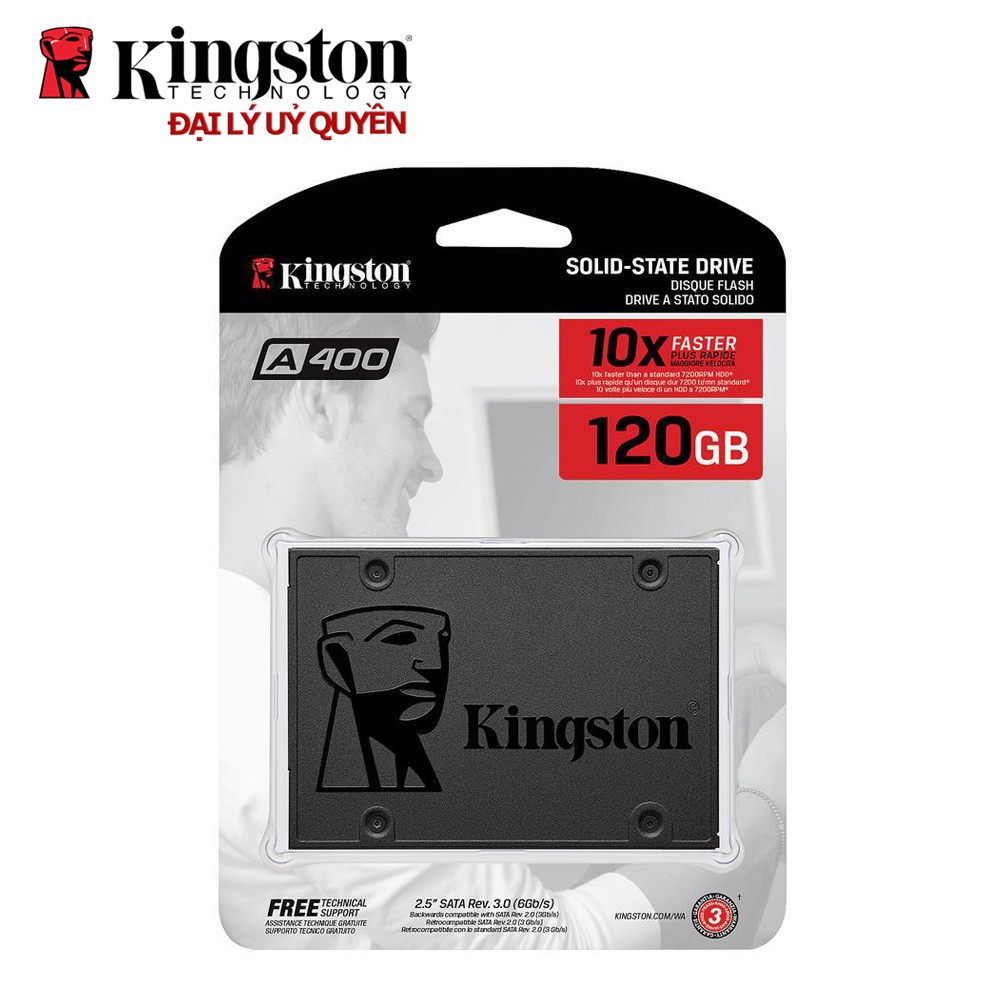 Ổ cứng SSD Kingston NOW A400 120GB 2.5'' SATA III...