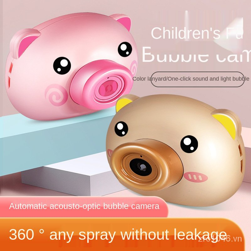 【HRMonopoly】Children's Electric Bubble Maker Bubble Camera Douyin Online Influencer Toy Electric Piggy Bubble Machine Boys' and Girls' Toys COD