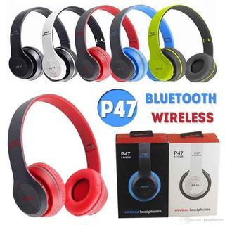 Tai Nghe Headphone Bluetooth P47 - kèm khe cắm thẻ nhớ thumbnail