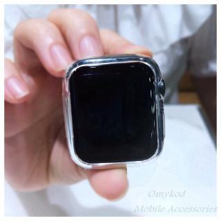 Vỏ silicone trong suốt cho màn hình đồng hồ Apple Watch 5 4 3 2 1 40mm 44mm 8