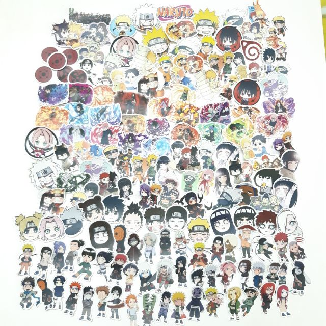 Sticker nhám cán mờ Naruto dán trang trí planer, scrapbook, điện thoại, laptop,…