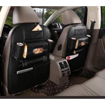 [Mart Online] Túi đựng đồ 8 ngăn lưng ghế ô tô đa năng bằng da PU Nhập khẩu (Màu Đen)