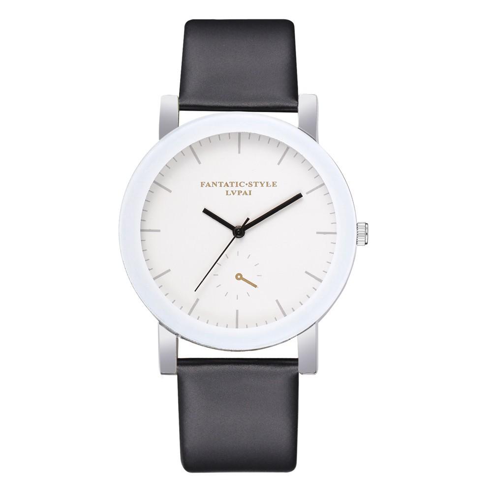 MaeLover Lvpai Casual Quartz Leather Band Watch Analog Wrist Watch