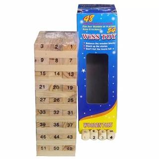Bộ đồ chơi rút gỗ thông minh 54 thanh chống thấm mốc (MS45) DC-RUTGO-45