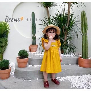 Váy cho bé gái Beemo - Chất liệu linen mềm mịn, thoáng mát, thiết kế tay váy cánh tiên điệu đà B048