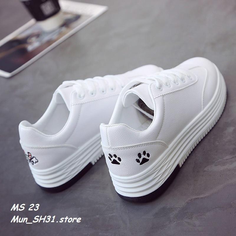 Giày thể thao nữ màu trắng, điểm hình mèo dễ thương [ KÈM ẢNH THẬT] - 3396526 , 1036938775 , 322_1036938775 , 235000 , Giay-the-thao-nu-mau-trang-diem-hinh-meo-de-thuong-KEM-ANH-THAT-322_1036938775 , shopee.vn , Giày thể thao nữ màu trắng, điểm hình mèo dễ thương [ KÈM ẢNH THẬT]