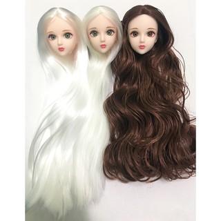 Đầu búp bê Xinyi mắt gắn nhiều màu tóc