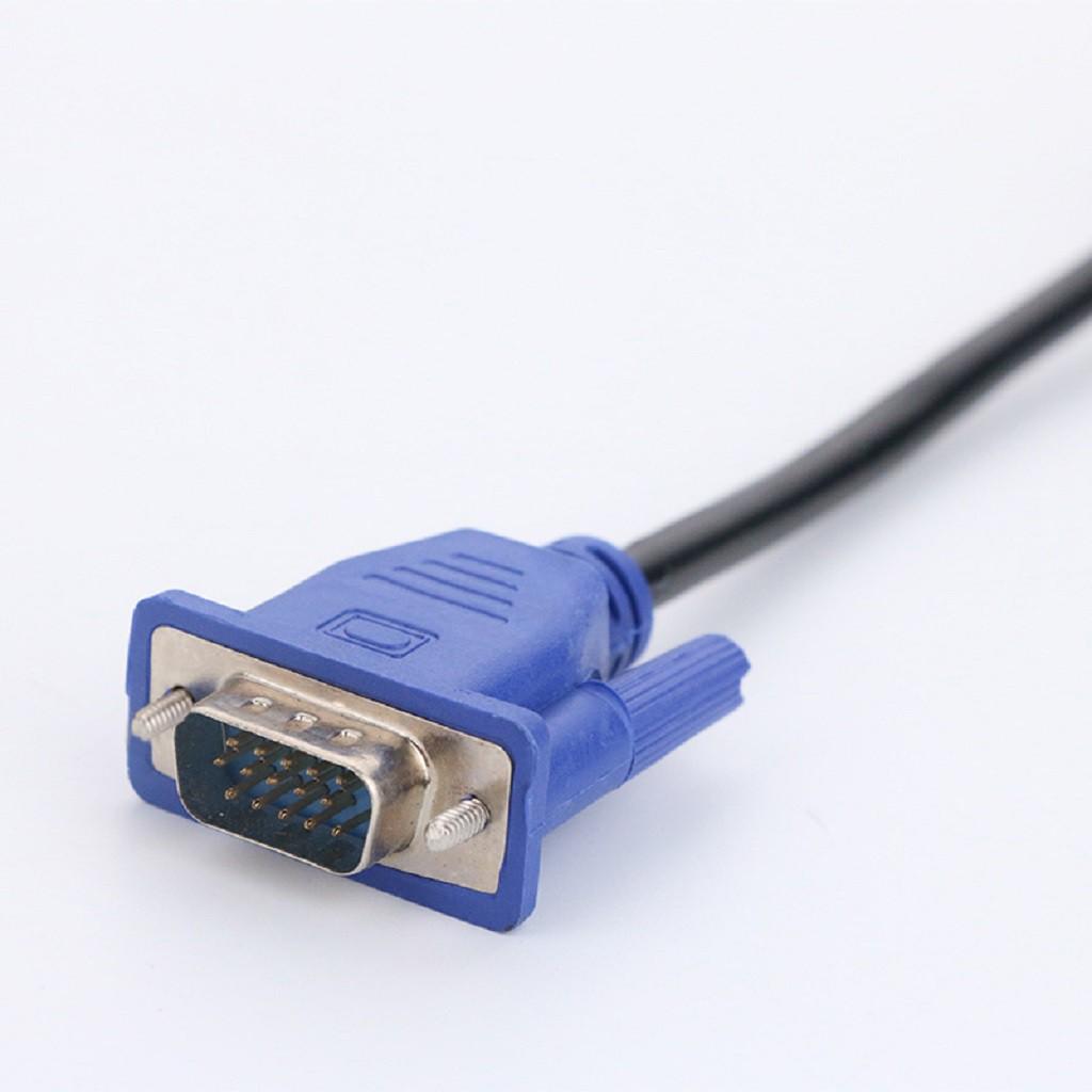 Cáp tín hiệu VGA máy tính màu đen dài 1.5m