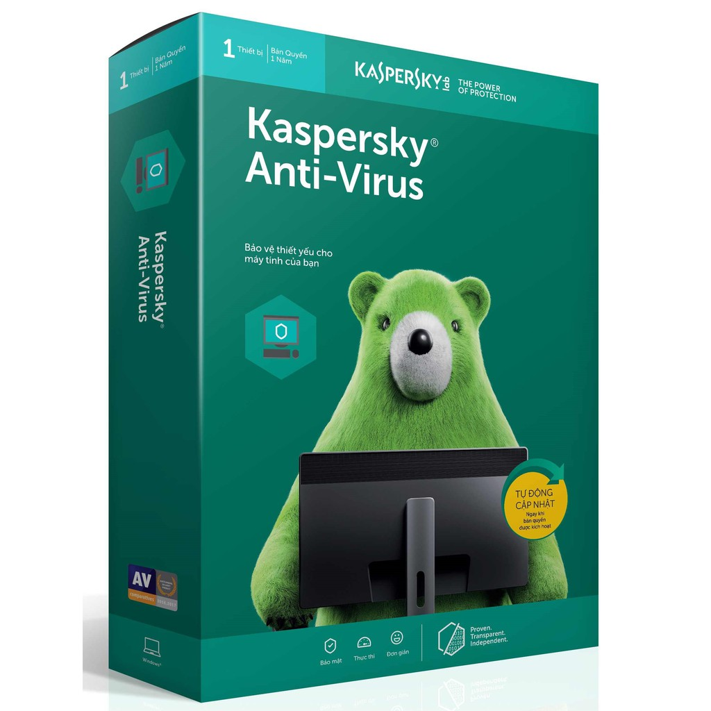 Kapersky Anti Virus 1PC/12T--2019-box----NTS