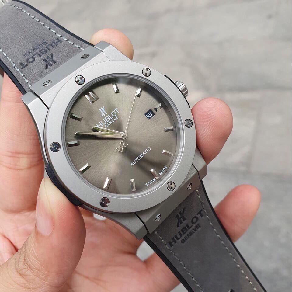 Đồng hồ hublot nam Viền Trơn HBL1101 dây da thời thượng sang trọng đẳng cấp