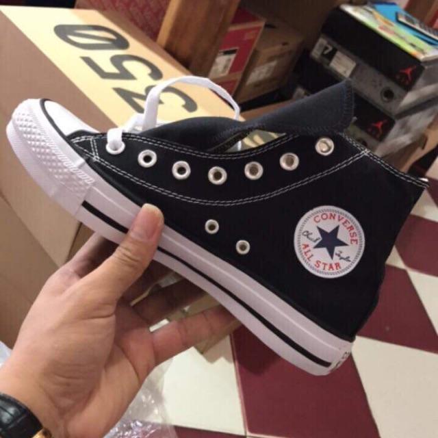 ( Ảnh thật - Cận cảnh ) Giày Converse Classic Cổ cao Black