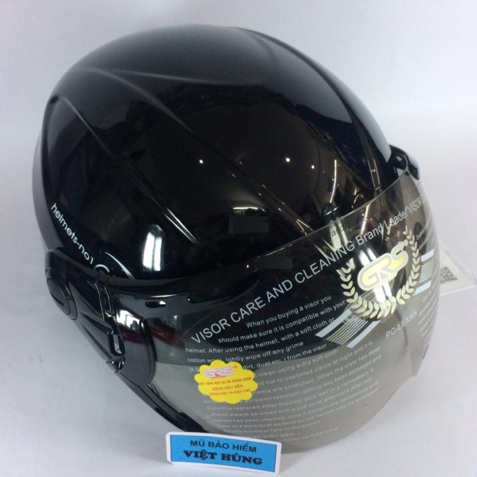 Mũ bảo hiểm GRS A790K (đen bóng) (Mũ dành cho người đầu to)