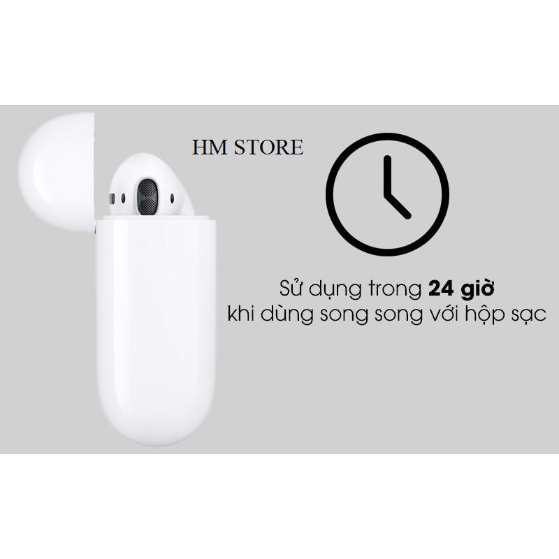 Tai Nghe Bluetooth Sạc Không DâyTrue Wireless Trắng Thiết Kế Nhỏ Gọn, Ấn Tượng Người Nhìn ( Kèm Hộp Sạc)