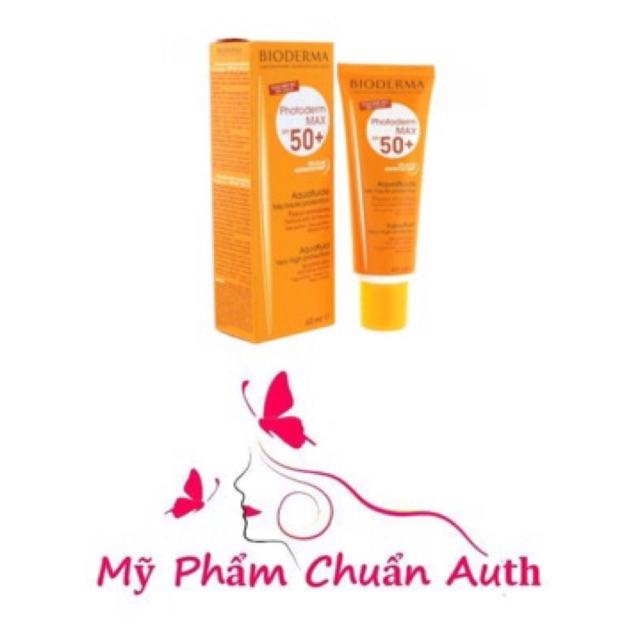 Kem chống nắng Bioderma Photoderm Max Aqua Fluide và Creme SPF 50+ - MPAUTH