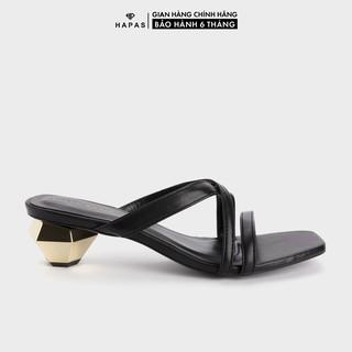 [Mã WABRHP100 giảm 15% đơn 150K] Giày Cao Gót Nữ Quai Chéo Gót Vàng 5Phân HAPAS - CG5555 thumbnail