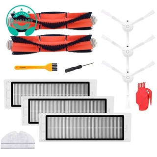 Accessories For Xiaomi Mijia/Roborock Robot Vacuum Cleaner Pack Of 3 Hepa Filters,2 Main Brushes,1 Cleaning Tool,3 Side Brushes