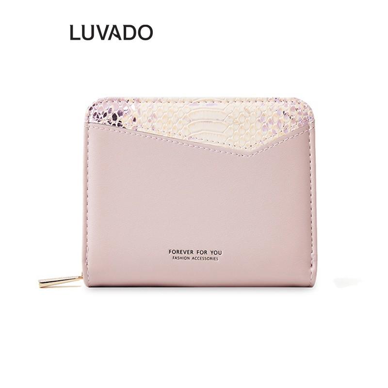 Ví nữ thời trang ngắn FOREVER FOR YOU cầm tay nhiều ngăn cao cấp đựng tiền LUVADO VD311