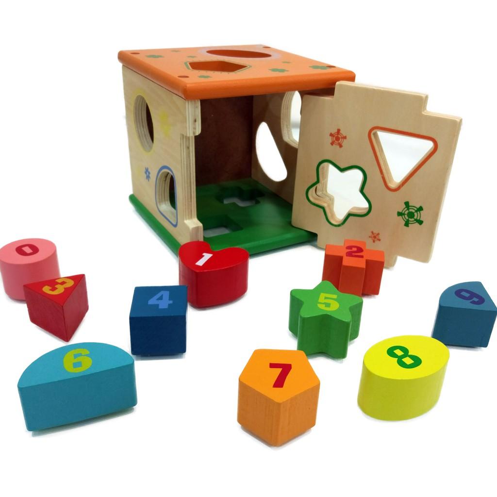 [Mã TOYMALL7 hoàn 20K xu đơn 50K] Đồ chơi gỗ - Hộp thả hình khối gỗ Vivitoys