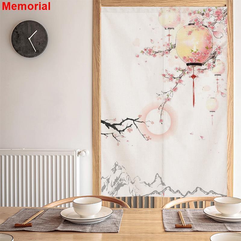 [อนุสรณ์] พาร์ทิชันม่านสไตล์ญี่ปุ่นม่านและลมห้องน้ำผ้าครึ่งม่านหอพักหอพักฝุ่นต