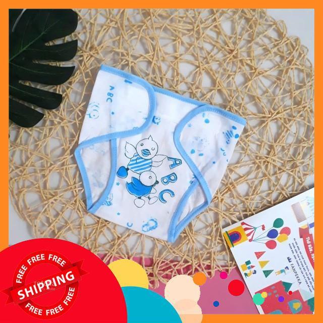 FREESHIP 99K Set 5 quần đóng bỉm cho bé sơ sinh, mẫu họa tiết loại đẹp
