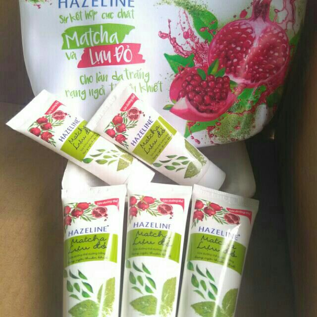10 tuýp sữa dưỡng thể hazeline matcha lựu đỏ 20ml - 3348929 , 1076934354 , 322_1076934354 , 17000 , 10-tuyp-sua-duong-the-hazeline-matcha-luu-do-20ml-322_1076934354 , shopee.vn , 10 tuýp sữa dưỡng thể hazeline matcha lựu đỏ 20ml