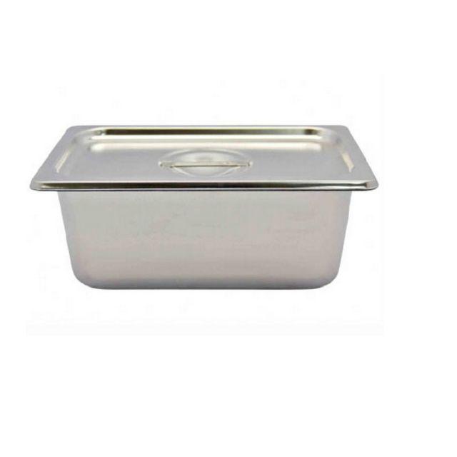 Khay buffet inox có nắp 10×16×26