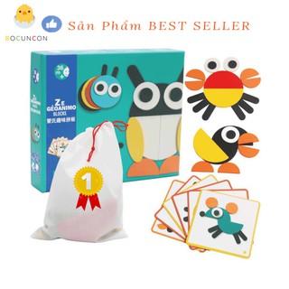 [CHÍNH HÃNG] Tranh Ghép Hình Cho Bé Montessori Fun Board