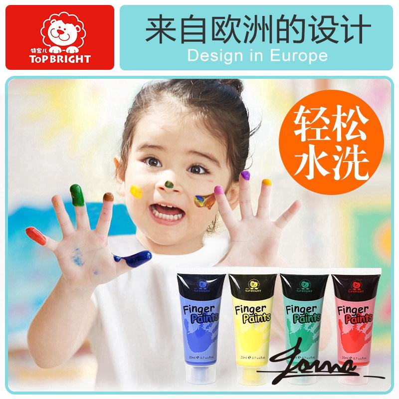 Baby Finger Painting Non-toxic Washable Painting Board Water Powder Pigment