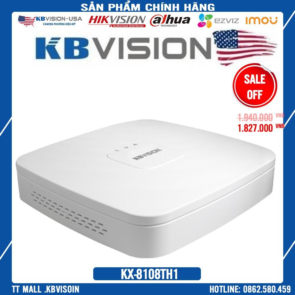 . {Giá HỦY DIỆT} Đầu ghi hình 8 kênh 5 in 1 KBVISION KX-8108TH1 ( 8 kênh + 4 kênh IP ) - Bảo hành chính hãng 2 năm .