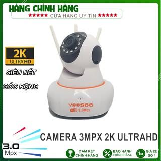 Camera wifi yoosee 3.0mpx 1296P siêu nét – xoay 360 độ, đàm thoại 2 chiều, chống trộm