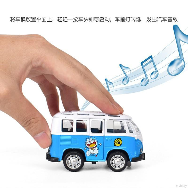 Hello Kitty Doraemon Classic Light Sound Bus Beetle Flash Car