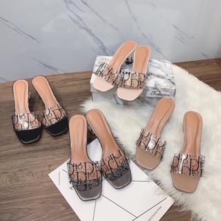 [Sỉ lẻ giày dép] Dép quai trong chữ D.O gót 5p Trong dễ đi sang dã man thumbnail