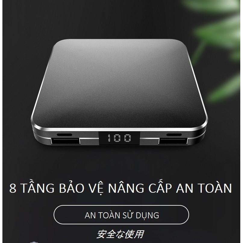 [SALE GIÁ SINH VIÊN] Sạc Dự Phòng RW-150 Chuẩn 10000mah Dung Lượng Công Suất Lớn 2 Cổng Micro USB và Type-C Sạc Nhanh