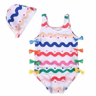 Set áo tắm mũ bơi in hình xinh xắn cho bé