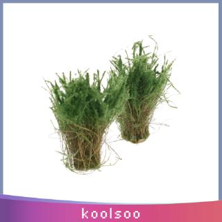 4pcs Scenery Landscape Model Waterweeds Water Plants Model Green