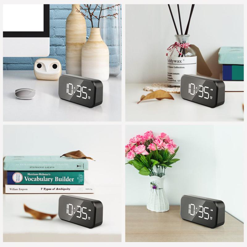 Đồng hồ báo thức điện tử cỡ nhỏ âm thanh siêu lớn 100db thích hợp cho ngủ