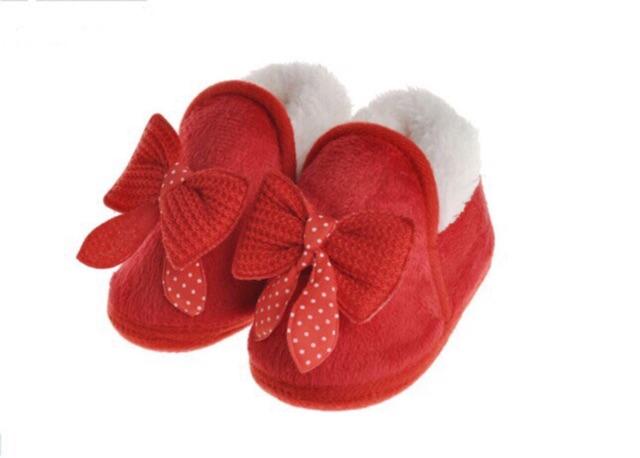 [DANGTKB5 giảm 5%] Giày lót lông cho bé gái tập đi (3 màu)
