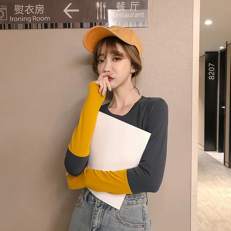 Áo Thun Cotton Dáng Ôm Thời Trang Hàn Quốc 2019 Cho Nữ