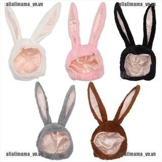 alimama.vn # Cute Girl Hat Plush Rabbit Bunny Ears Hat Earflap Cap Head Warmer Photo Supplies