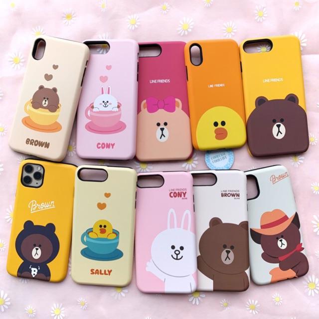 Line Friends ốp 2 lớp - case iphone xinh dễ thương