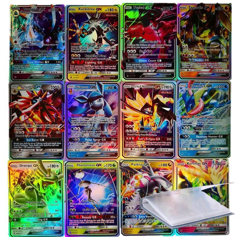 200 Pcs GX MEGA Shining Cards Game Battle Carte 25 50 100pcs Trading Cards Game Children Pokemons Toy