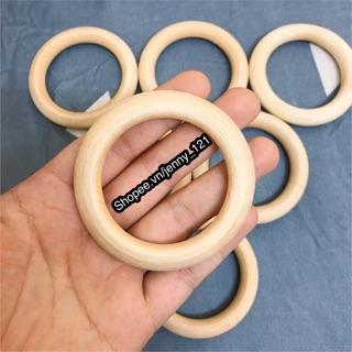 Vòng gỗ làm lục lạc/xúc xắc đồ chơi cho bé đường kính 7cm
