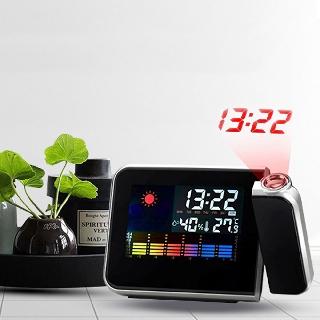 Đồng hồ báo thức đa chức năng, máy chiếu giờ lên tường, đo nhiệt độ, độ ẩm, lịch vạn niên mầu ngẫu nhiên