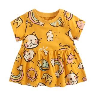 Đầm Sanlutoz phong cách mùa hè màu vàng dễ thương cho bé gái thumbnail