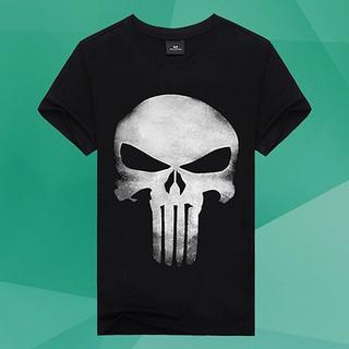 ⃰⃰⃰COD Men\'sCreative Summer 3D Skull HeadBlack s T-shirt
